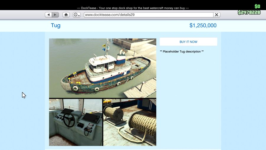 GTA 5 Finace And Felony  Tugboat