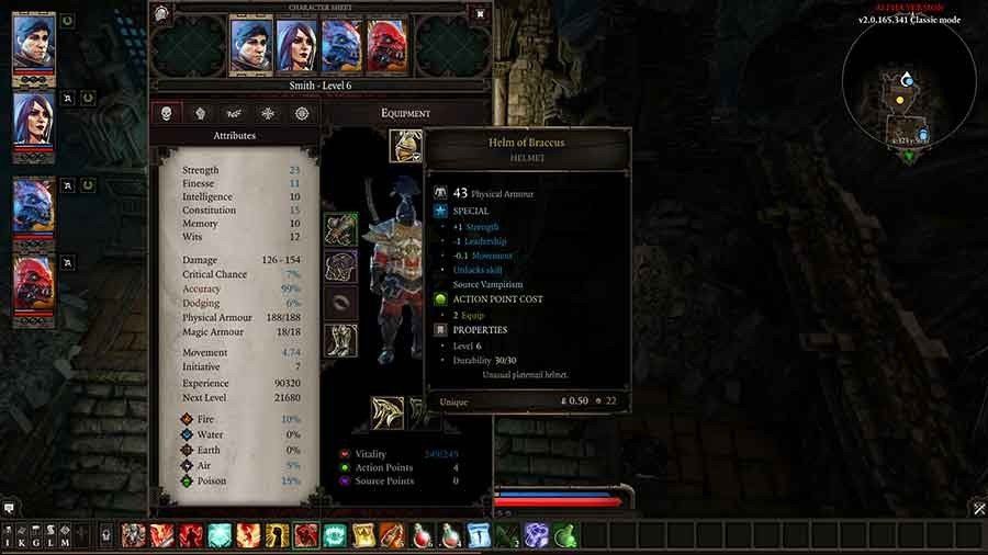 Divinity Original Sin 2 Unique Armor Guide - Helm Of Braccus