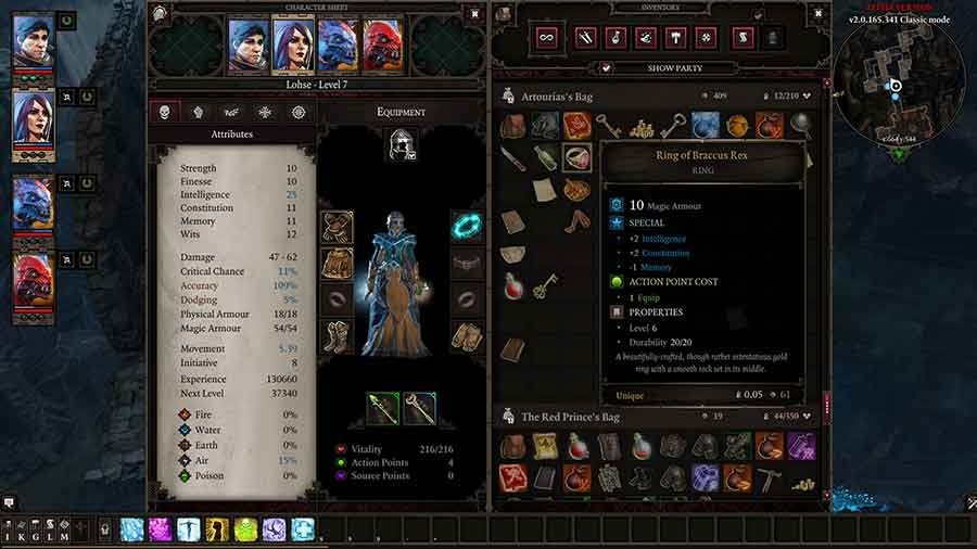 Divinity Original Sin 2 Unique Armor Guide - The Ring Of Braccus Rex
