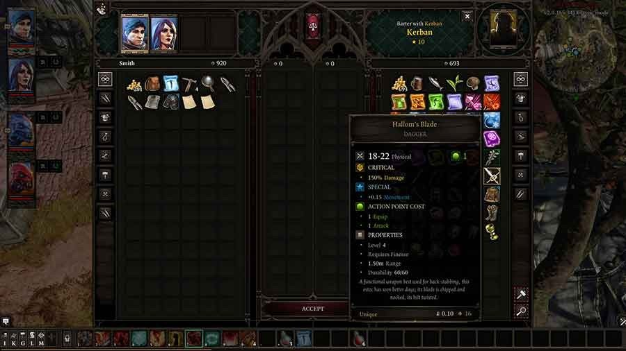 Divinity Original Sin 2 Unique Weapon Guide - Hallum's Blade
