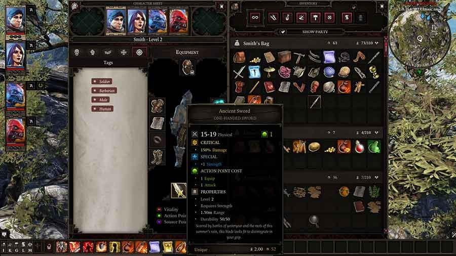 Divinity Original Sin 2 Unique Weapons Guide - Ancient Sword