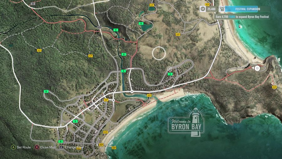 Forza Horizon 3 Byron Bay XP Boards locations