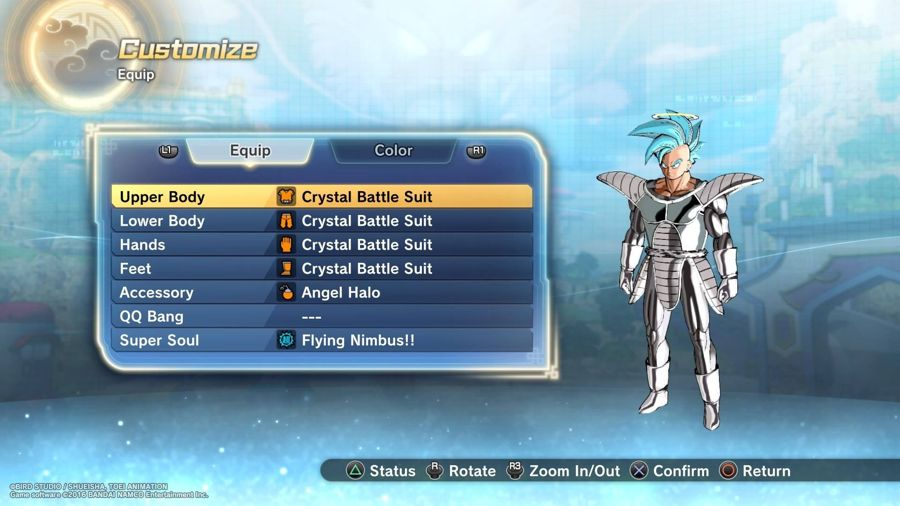 Dragon Ball Xenoverse 2 Crystal Outfit