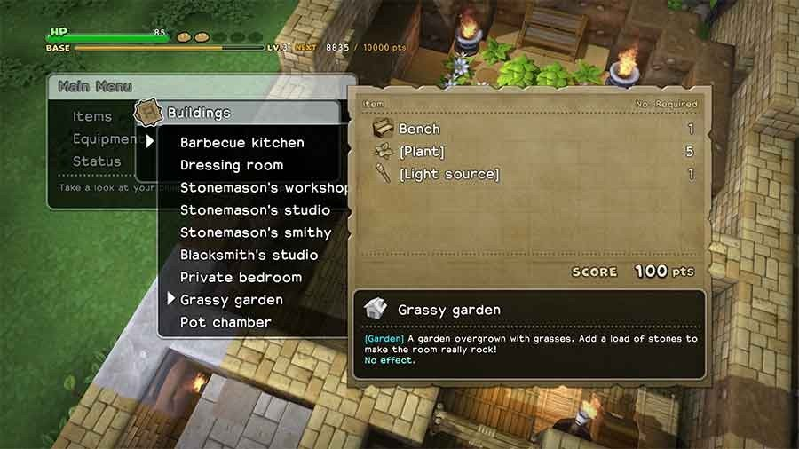 dragon quest builders how to build a graveyard