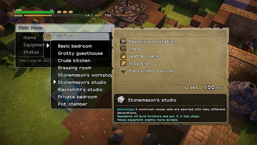 Outstanding Dragon Quest Builders Room Building Guide Materials Bonuses Largest Home Design Picture Inspirations Pitcheantrous