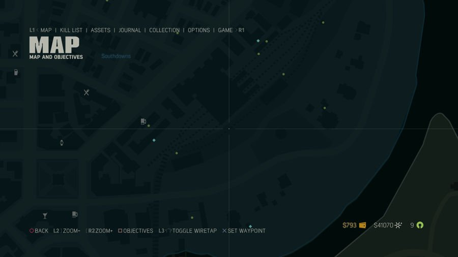 Mafia 3 Collectibles Map Southdowns 2