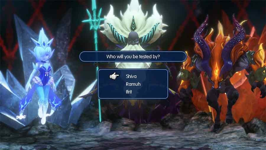 World Of Final Fantasy - Choose Shiva, Ramuh or Ifrit