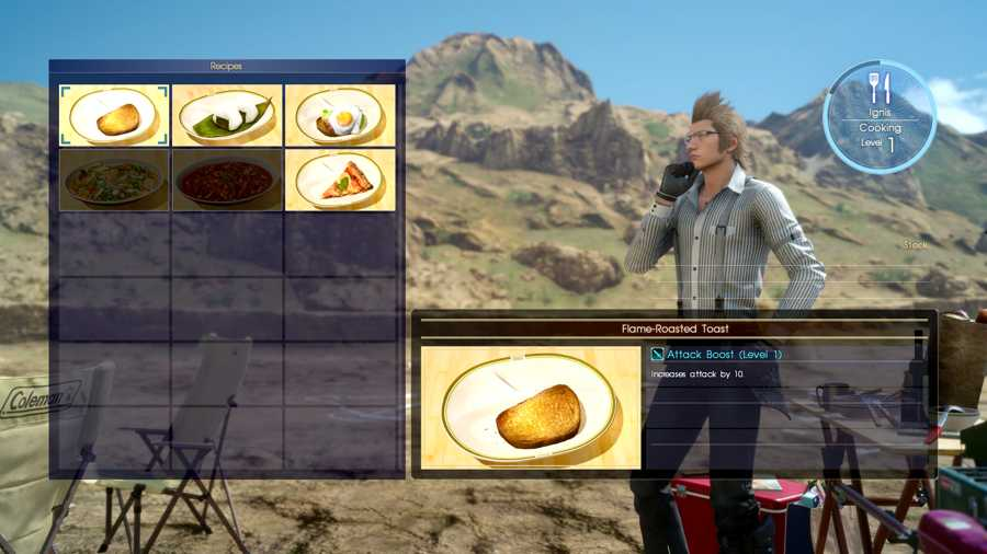 Final Fantasy 15 Cooking Guide