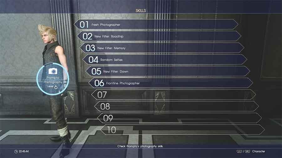 Final Fantasy XV Prompto's Photography Skills Guide