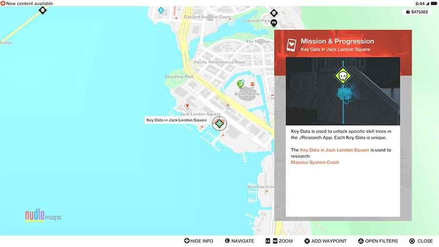 System Crash Upgrade: Blackout - Jack London Square Key Data