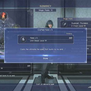 How To Make Limit Break Spells Flare, Freeze, and Electon Easily In Final Fantasy XV