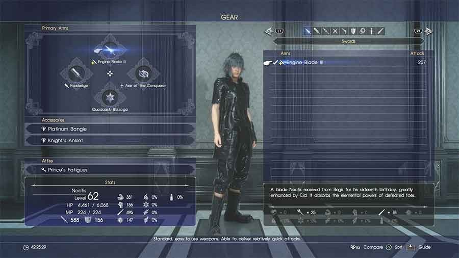 What Does The Yellow Plus Icon Next To Weapons Mean In Final Fantasy XV