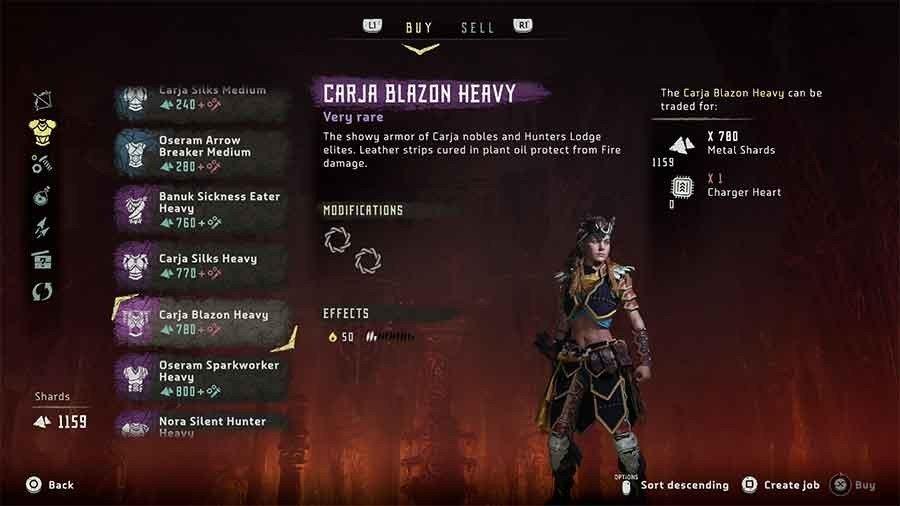 Carja Blazon Heavy