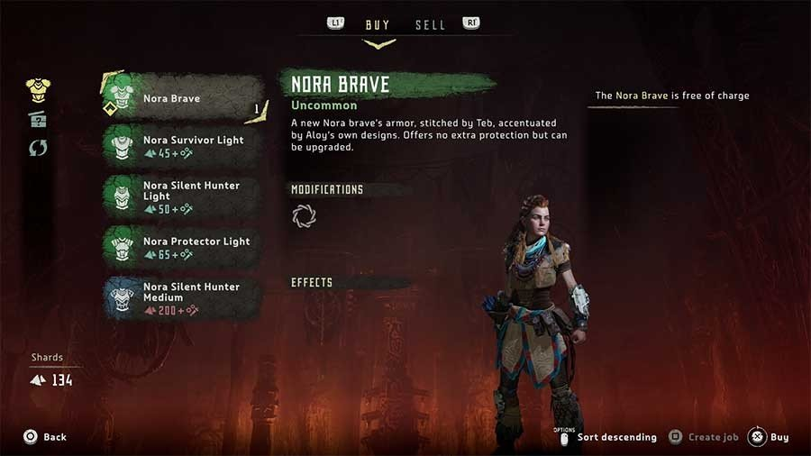 Horizon Zero Dawn Outfit Guide Nora Brave