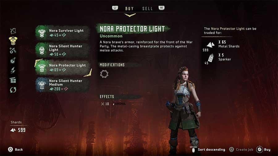 Horizon Zero Dawn Outfit Guide Nora Protector Light
