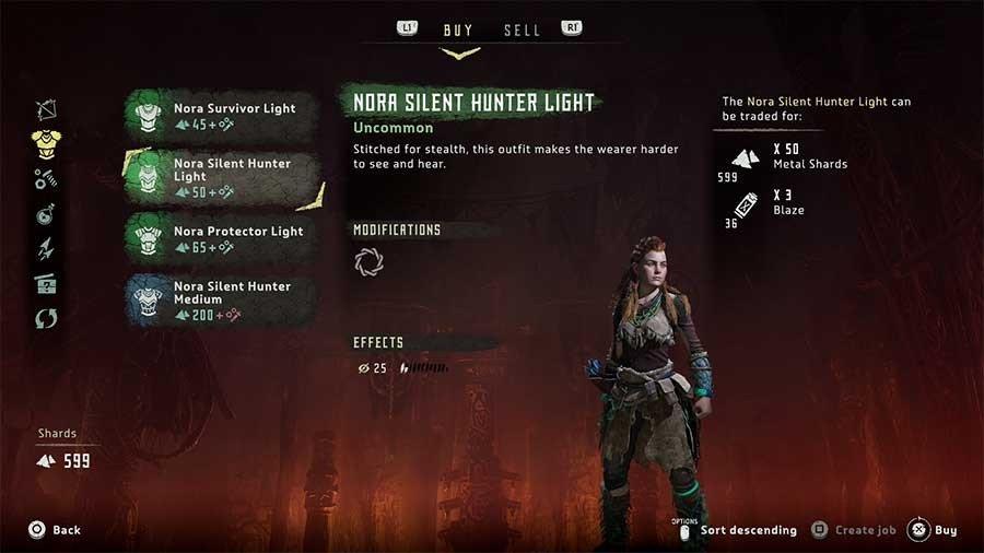Horizon Zero Dawn Outfit Guide Nora Silent Hunter Light