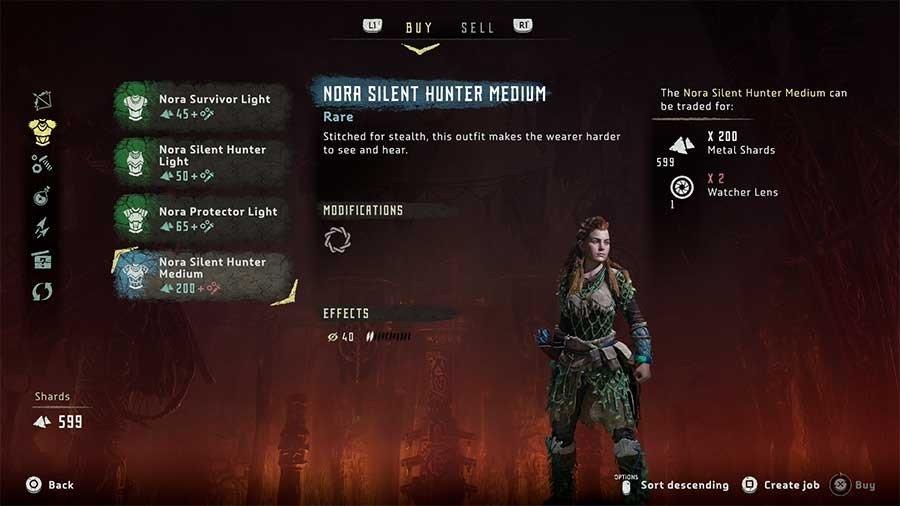 Horizon Zero Dawn Outfit Guide Nora Silent Hunter Medium