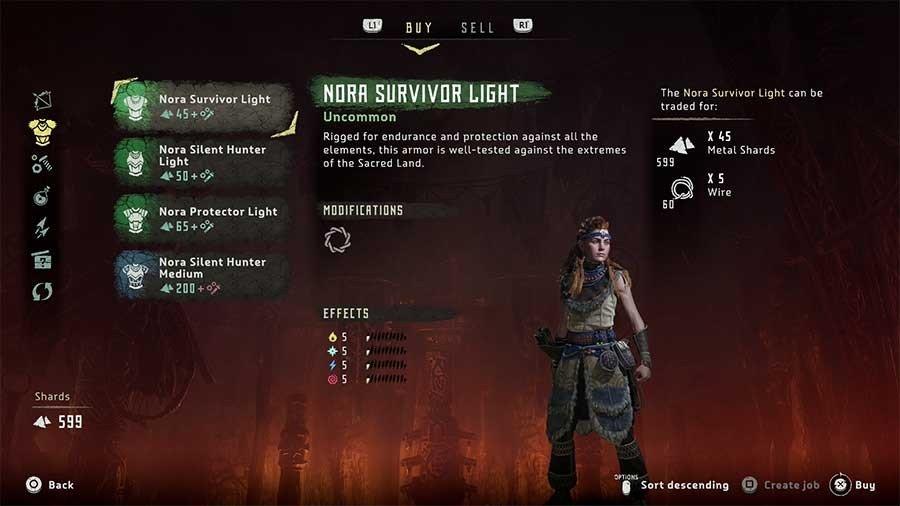 Horizon Zero Dawn Outfit Guide Nora Survivor Light