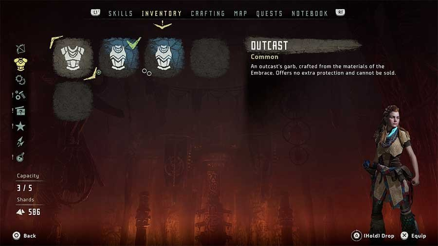 Horizon Zero Dawn Outfit Guide Outcast Outfit