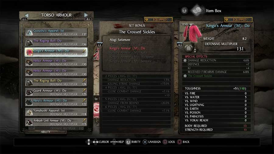 Kingos Armor Set - The Crossed Sickles