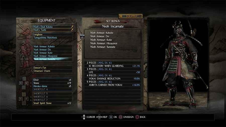 Nioh Armor Set - Nioh Incarnate
