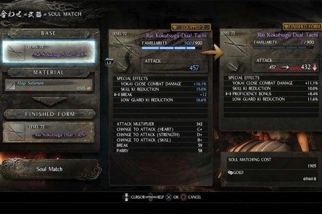 Nioh Blacksmith Guide – Soul Match & Reforge Guide