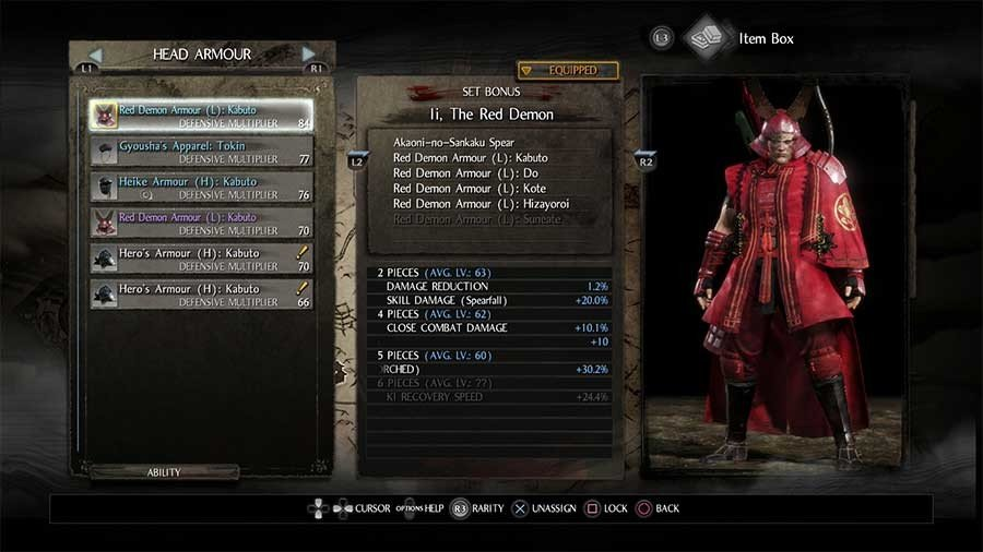 Red Demon Armor Set - Li, The Red Demon