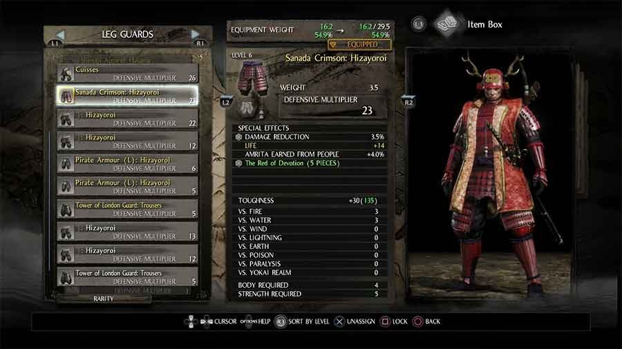 Sanada Crimson Armor Set