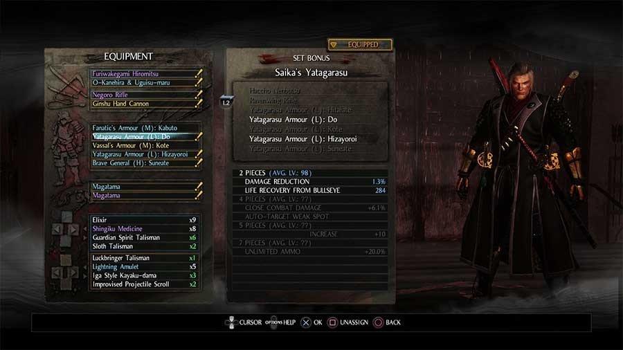 Yatagarasu Armor Set- Saikas Yatagarasu