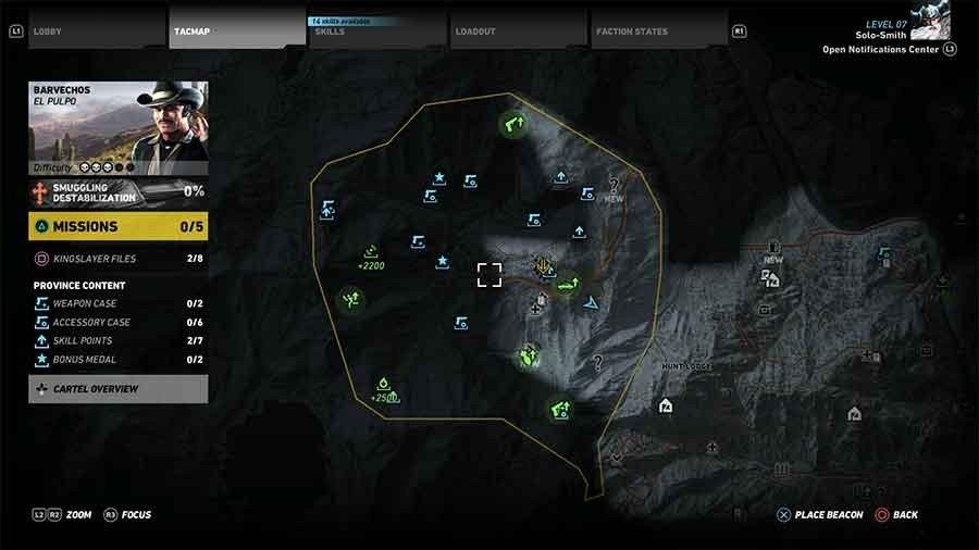 Barvechos Region Rebel Ops Map