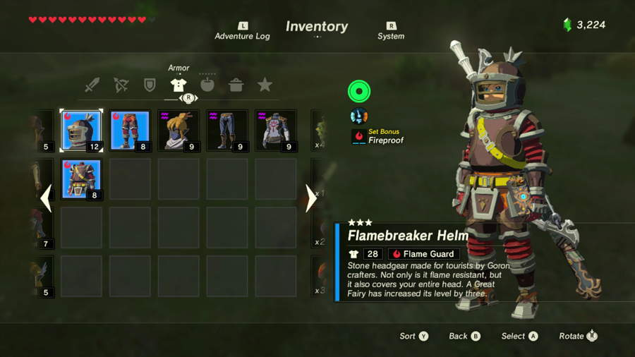 Breath Of The Wild Flamebreaker Set