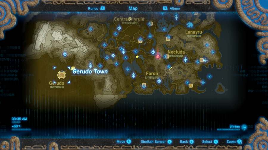 Breath Of The Wild Gerduo Town Location
