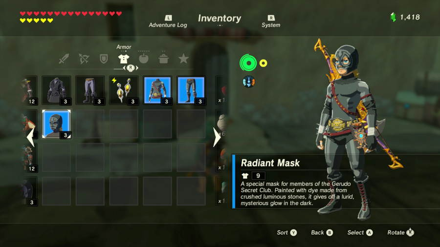 Breath Of The Wild Radiant Armor
