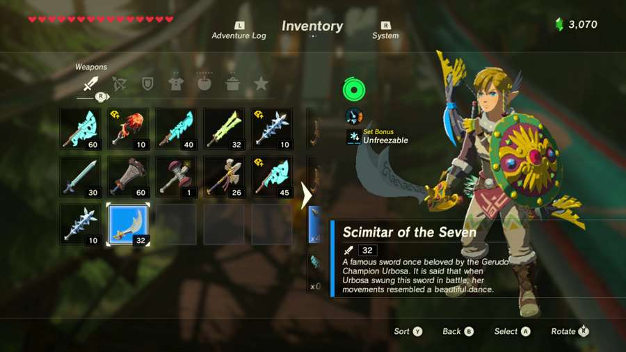 Breath Of The Wild Scimitar Of The Seven