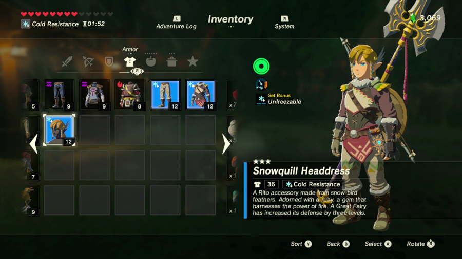 Breath Of The Wild Snowquill Set