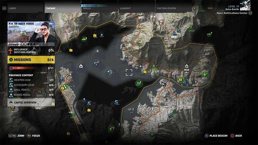 De Agua Verde Region Rebel Ops Map