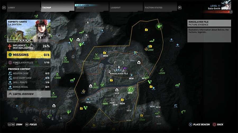 Espiritu Santo Region Rebel Ops Map