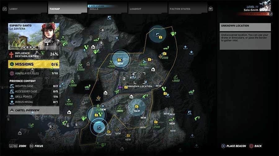 Espiritu Santo Region Weapon Case & Accessory Map