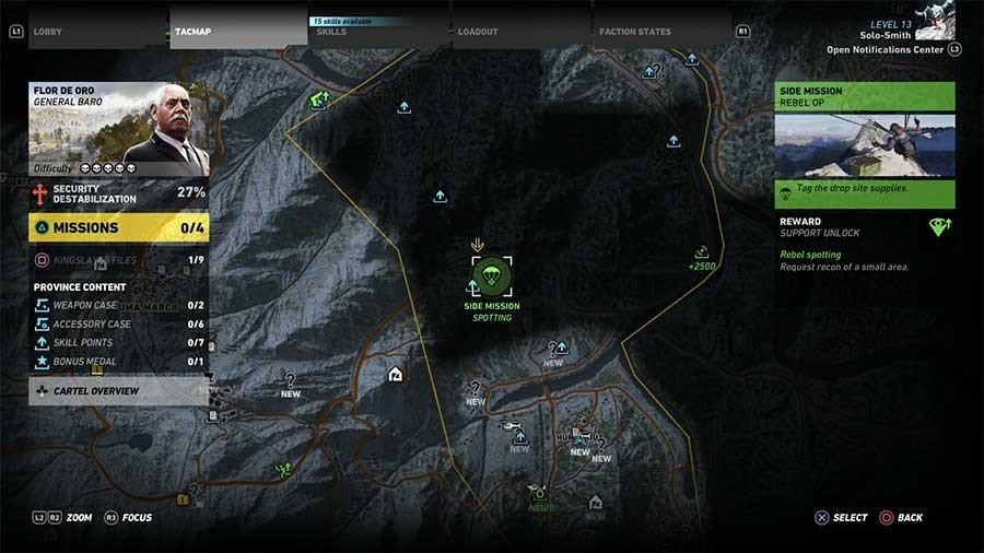 Flor De Oro Region Rebel Ops Map