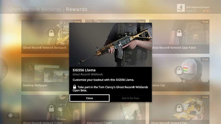 Ghost Recon Wildlands Unlock All Weapons - SIG556 Llama