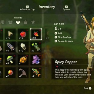 How To Cook In Legend Of Zelda Breath Of The Wild