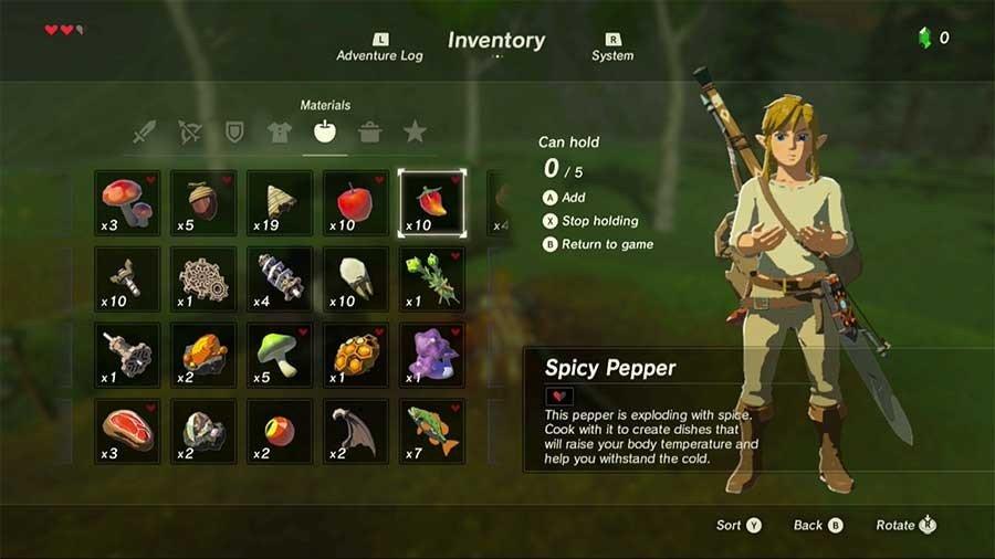 How To Cook In Legend Of Zelda Breath Of The Wild