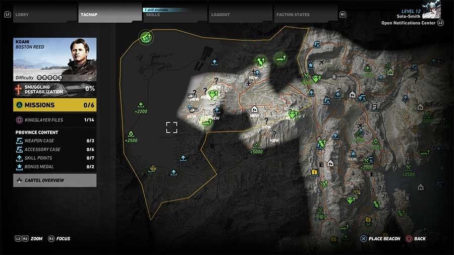 Koani Region Rebel Ops Map