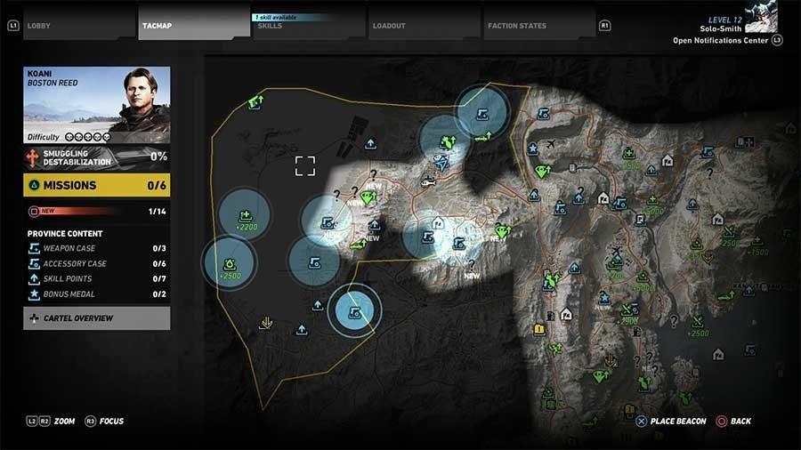 Koani Region Weapon Case & Accessory Map