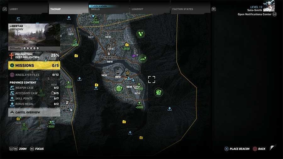 Libertad Region Rebel Ops Map