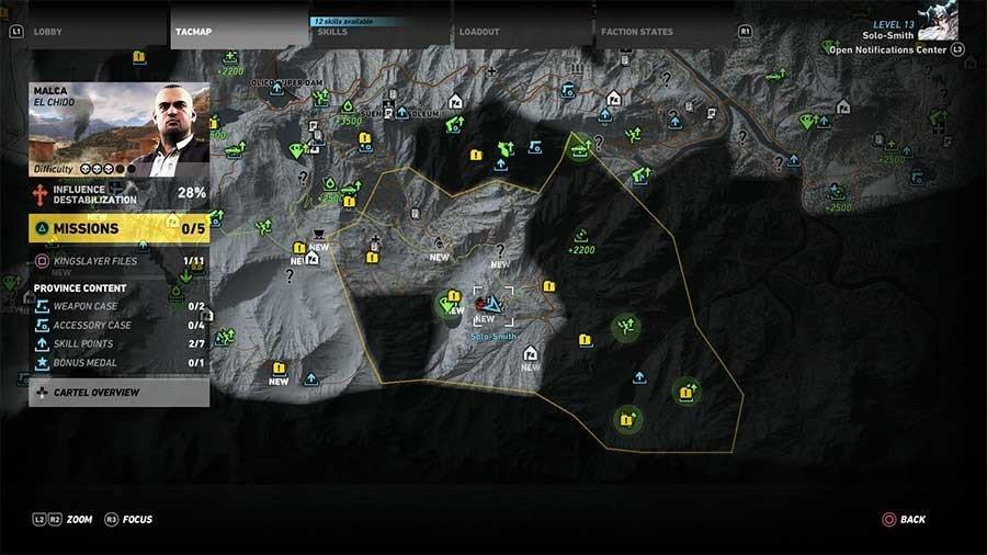 Malca Region Rebel Ops Map