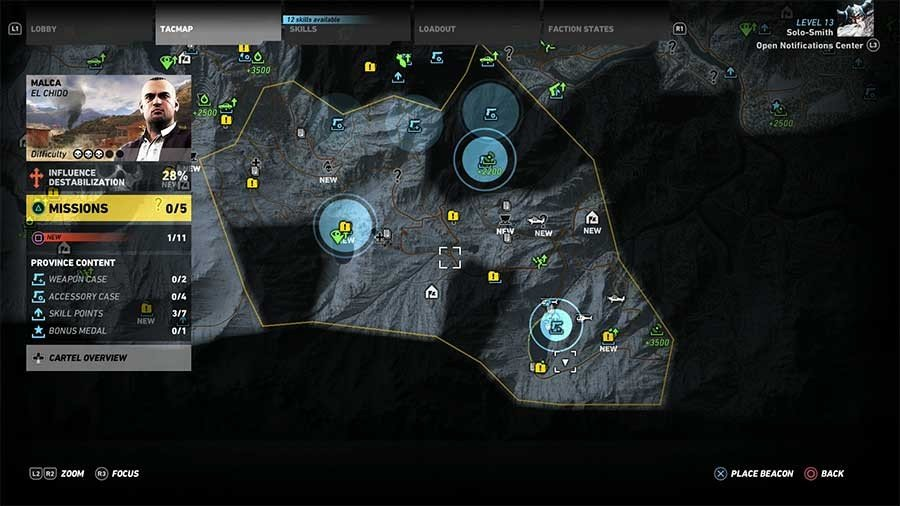 Malca Region Weapon Case & Accessory Map