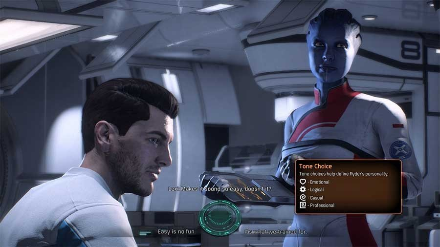 Mass Effect Andromeda Tone Choice Guide - Conversation Choice Icons