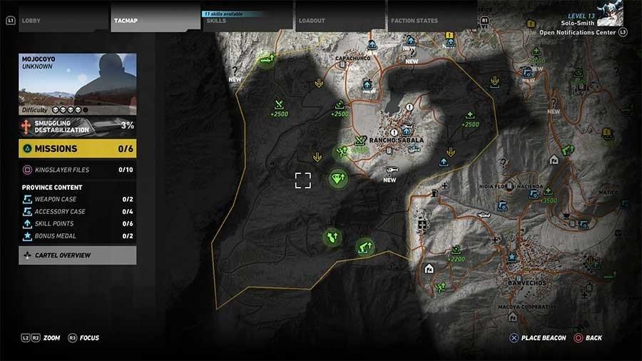 Mojocoyo Region Rebel Ops Map