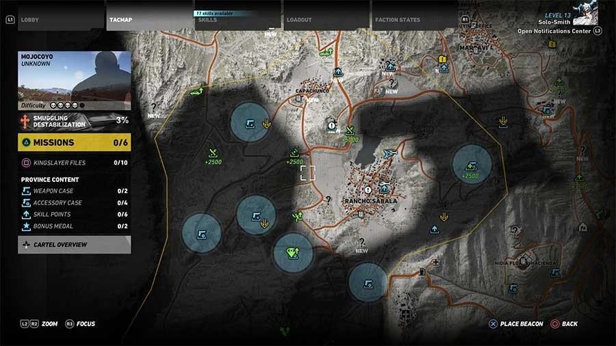 Mojocoyo Region Weapon Case & Accessory Map